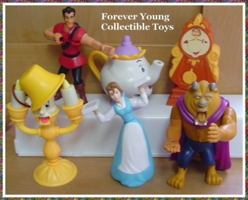 Disney Mcdonalds Beauty And The Beast Happy Meal Lot 6
