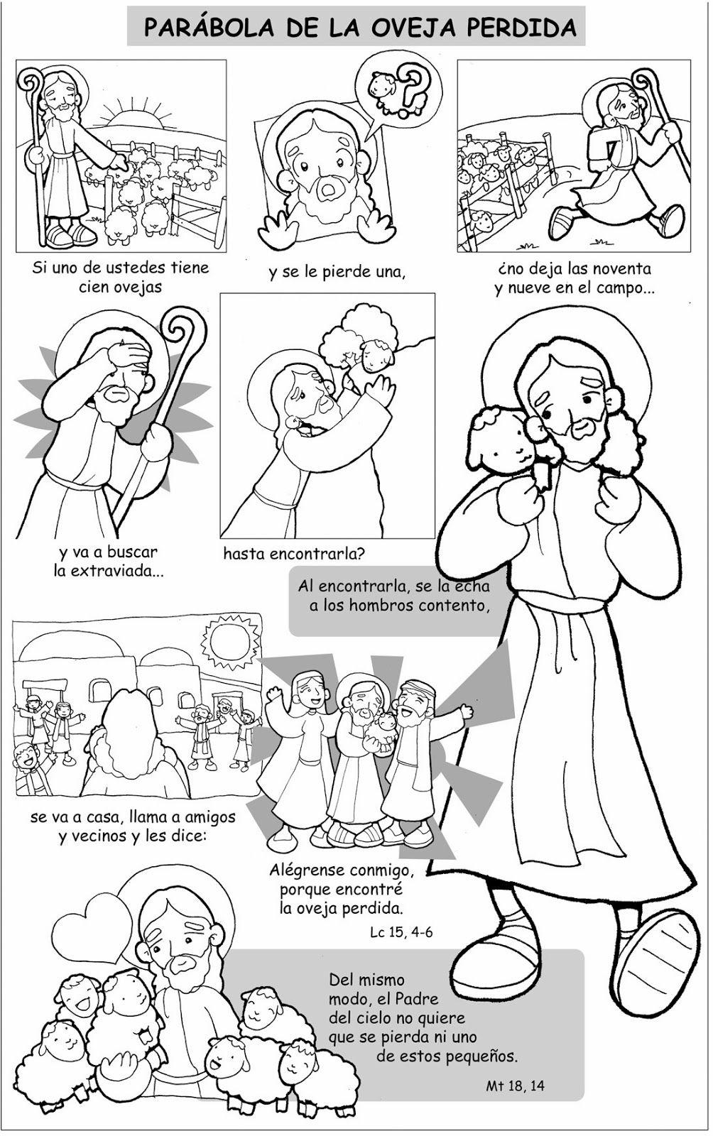 Dibujos Para Catequesis Parábola De La Oveja Perdida Ere