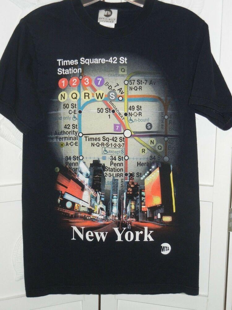 Small Nyc Subway Map.Nyc New York City Subway Map T Shirt Mta Black Men S Small Times