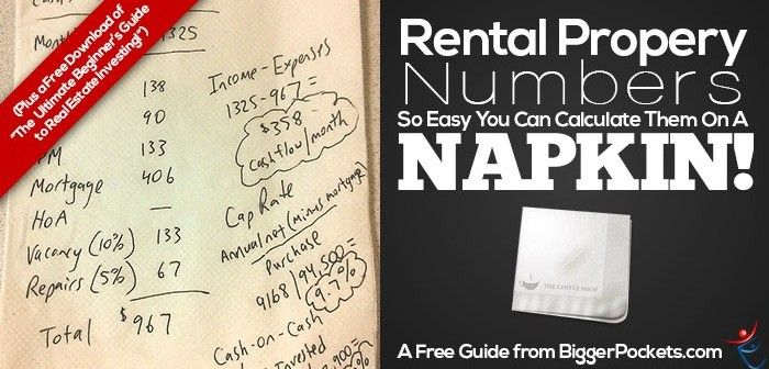 Rental Property Numbers so Easy You Can Calculate Them on a Napkin - real estate investment spreadsheet