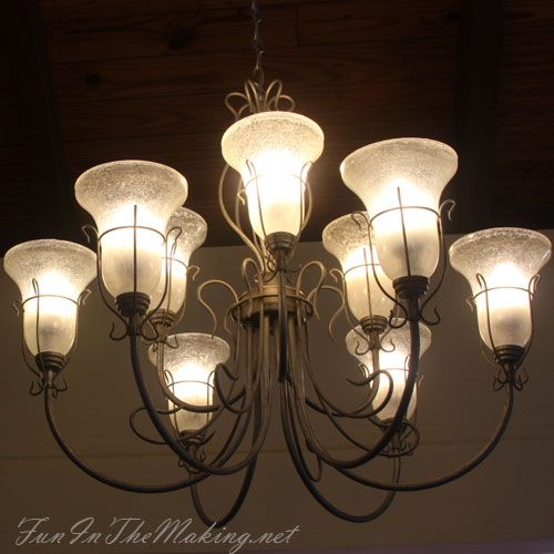 Chandelier Make-Over: When Switching To Energy Efficient