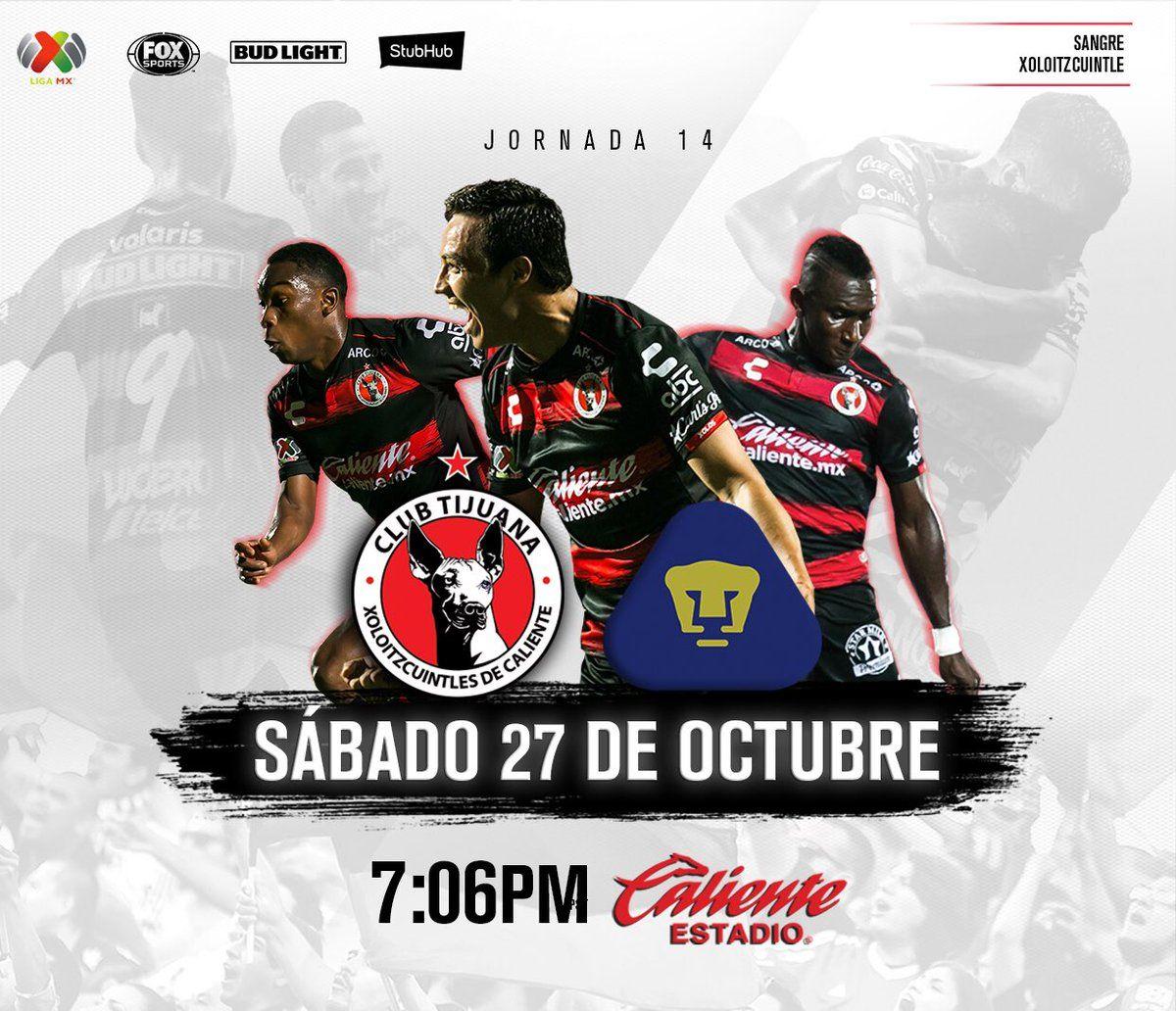 A que hora juega Tijuana vs Pumas 2018 Liga MX Pumas