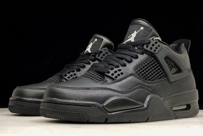 6182316d0b3e35 2019 Air Jordan 4 Retro Black Cat All Black 308497-002-5