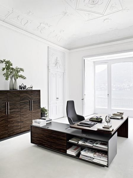 Rectangular executive desk REPORT - Sinetica Industries Design - Escritorios Modernos