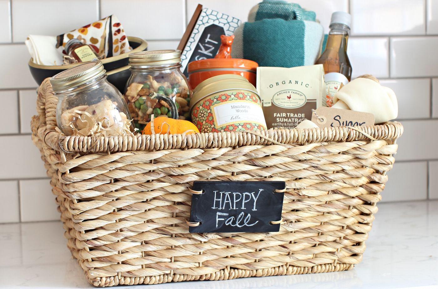 Not Your Grandma's Gift Basket Diy gift baskets, Fall