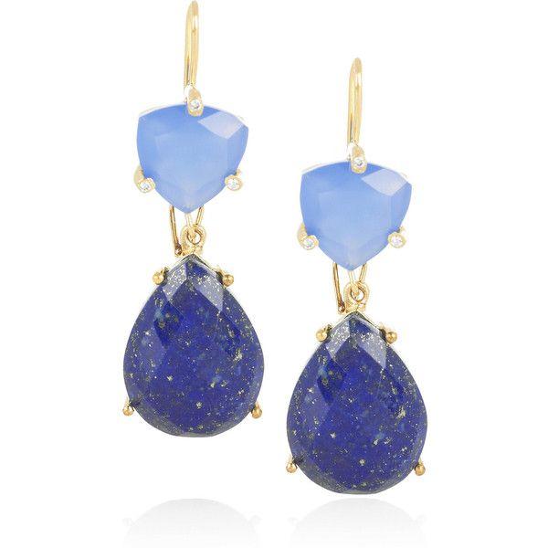 Isharya Libra 18-karat gold-plated drop earrings ... net-a-porter.com