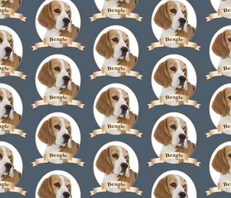 Beagle Pateisen Spoonflower Dog Background Beagle Fabric