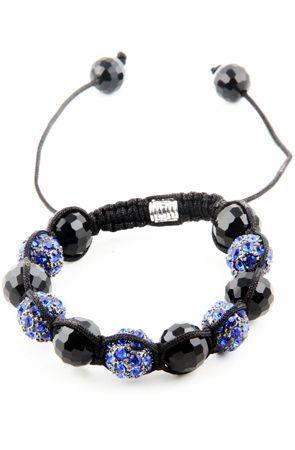 75% off! Sapphire Blue Shamballa Bracelet by Karma Mantra
