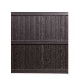 brown vinyl fence panels. Keter Springfield X Brown Flat-Top Privacy Vinyl Fence Panel Panels .