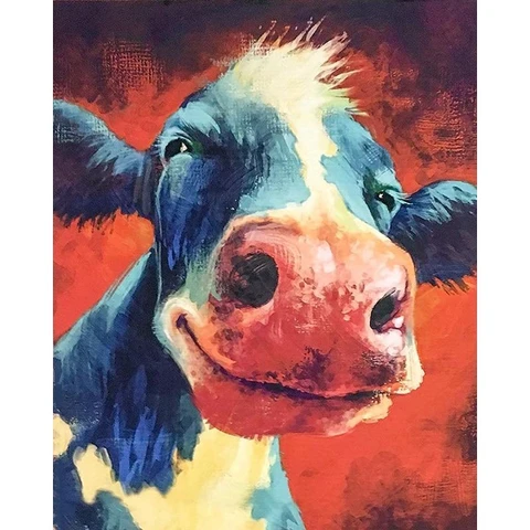 happy cow  animals paintnumbers in 2020  cow