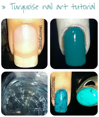 Turquoise Nail Art Tutorial Easy To Do For More Details Check Out