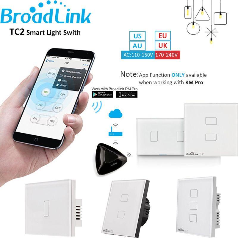 Broadlink TC2 1 2 3 Gang Home Automation WiFi Light Switch 110V-240V ...