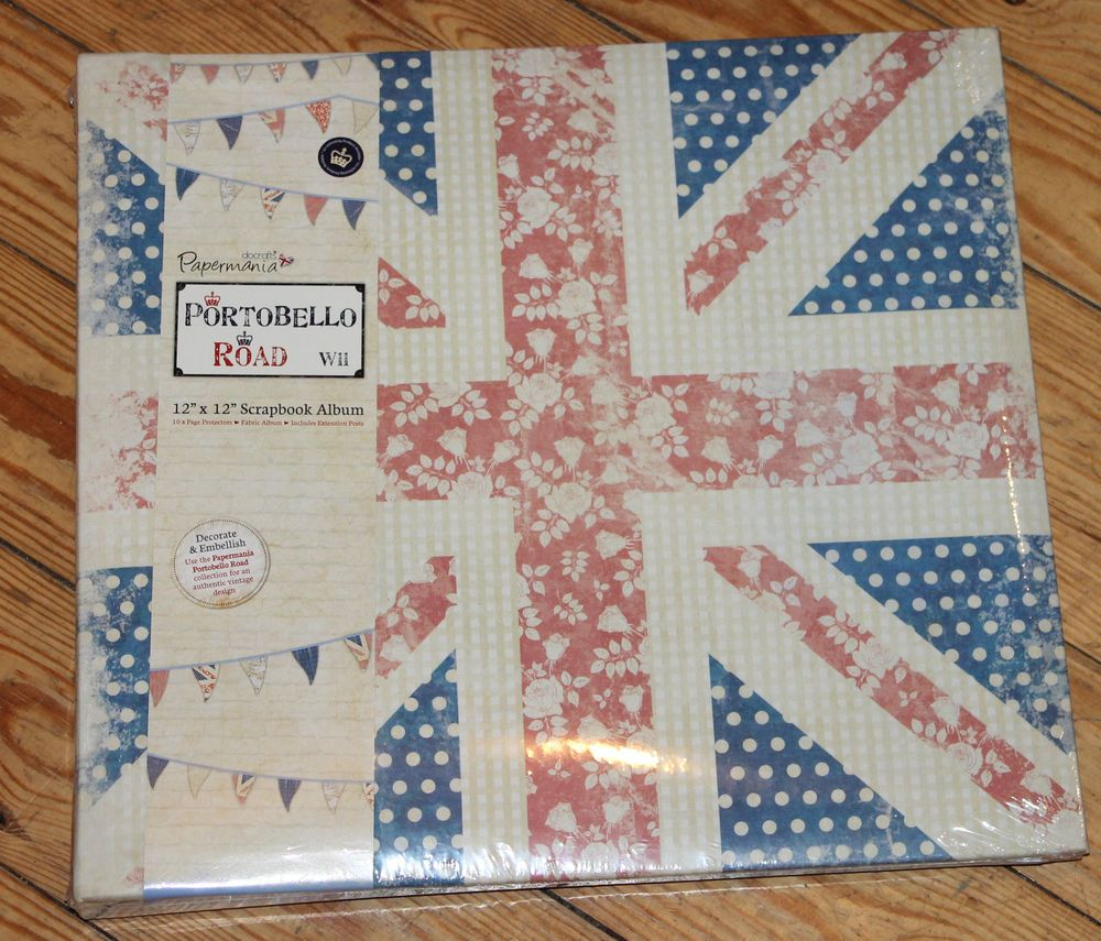 Scrapbook ideas relationships - 12x12 Papermania Portobello Road Union Jack Scrapbook Album
