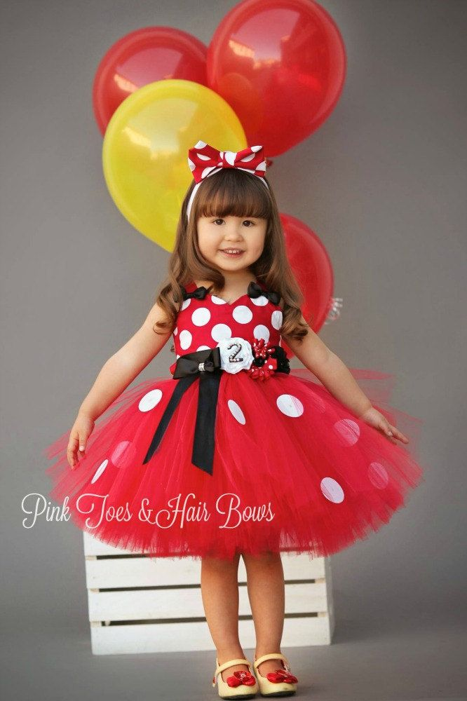 Rojo Minnie Mouse Tutu Vestido Clásico Rojo Minnie Mouse