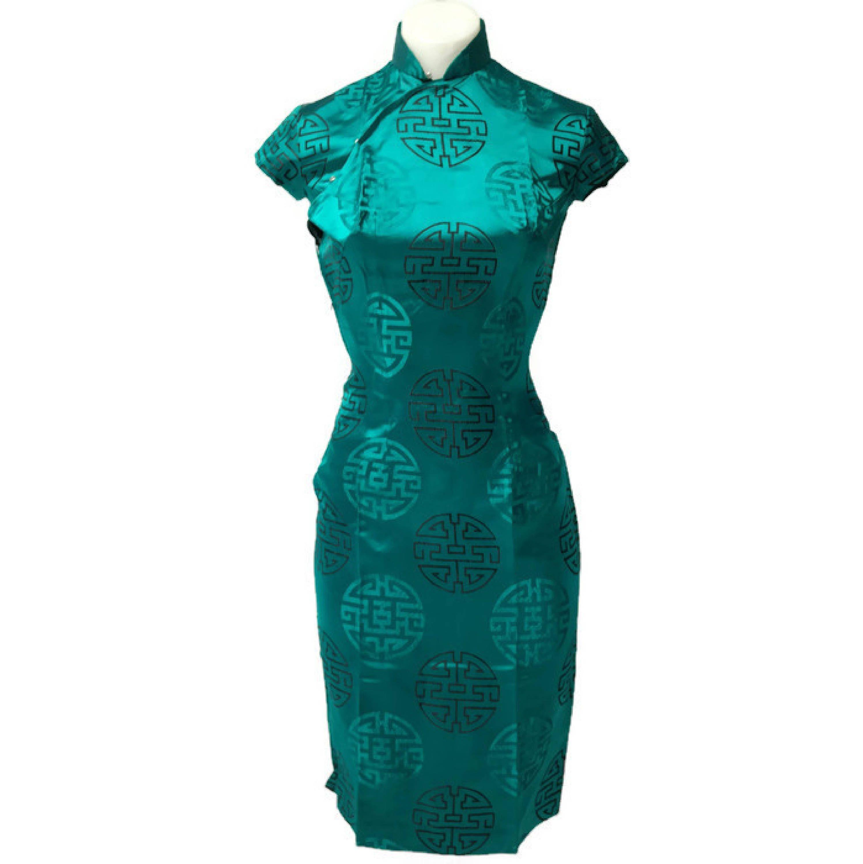 60er Jahre jade Cheongsam wackeln Party-Kleid   Vintage dresses ...