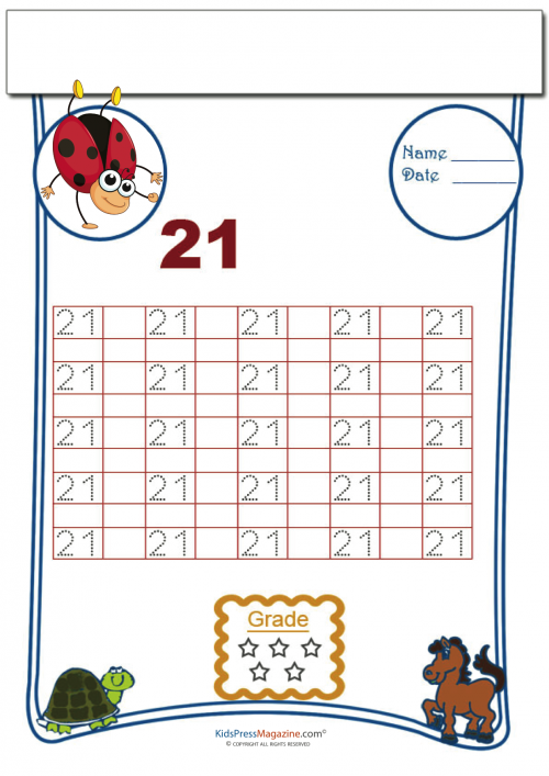 Tracing Numbers 21 Ivy Class Pinterest Free Printable