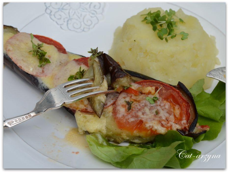 Cat-arzyna: eggplant, tomato, cheese YUM