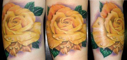 Yellow Rose Tattoo..my.mom\'s favorite rose   Tattoos   Pinterest ...