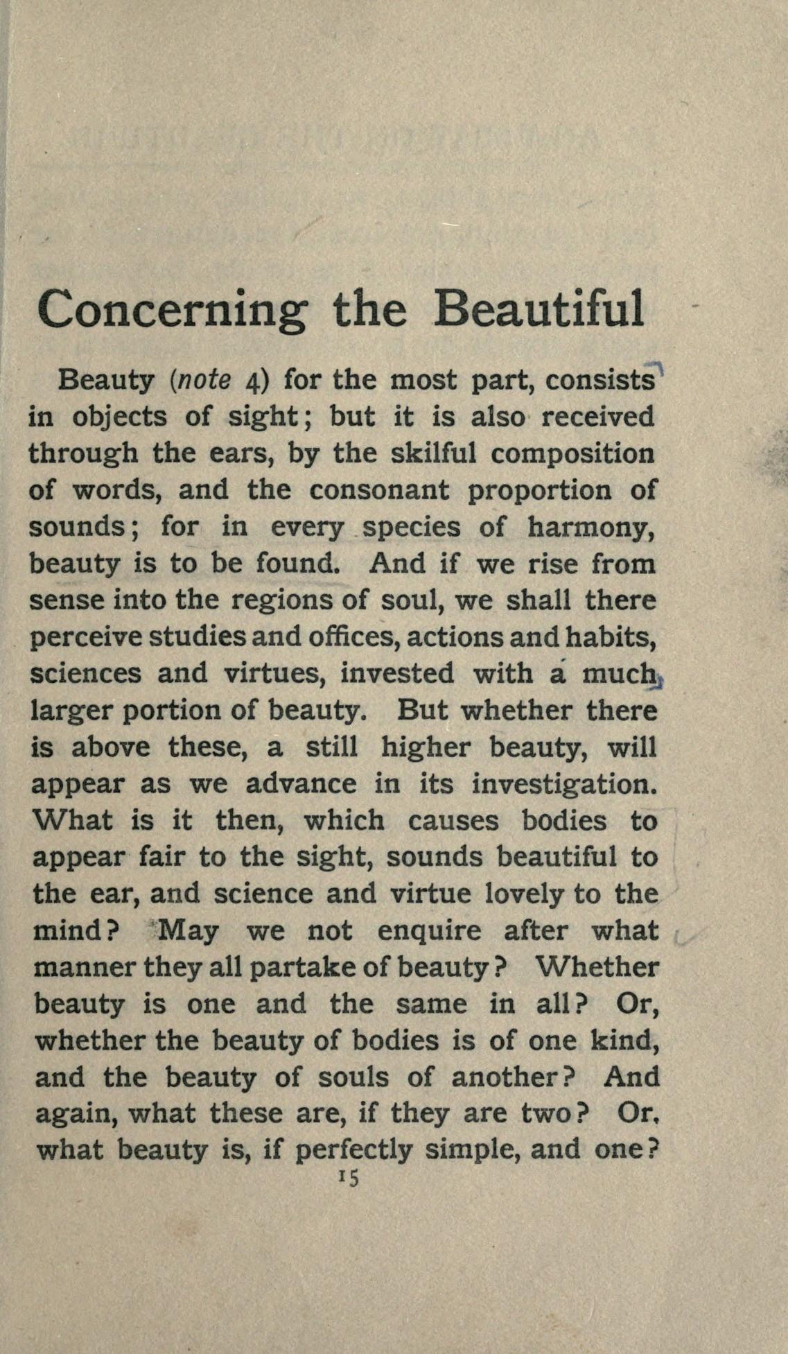Plotinus On Beauty Self Esteem Quotes Powerful Quotes History