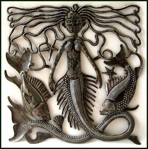 Beautiful Mermaid Decorative Metal Wall Hanging 17 42 95 Steel Drum
