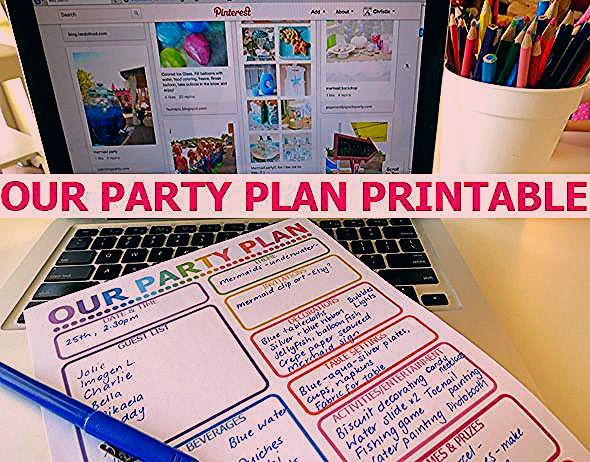 Photo of How to Plan a Party Printable Planner