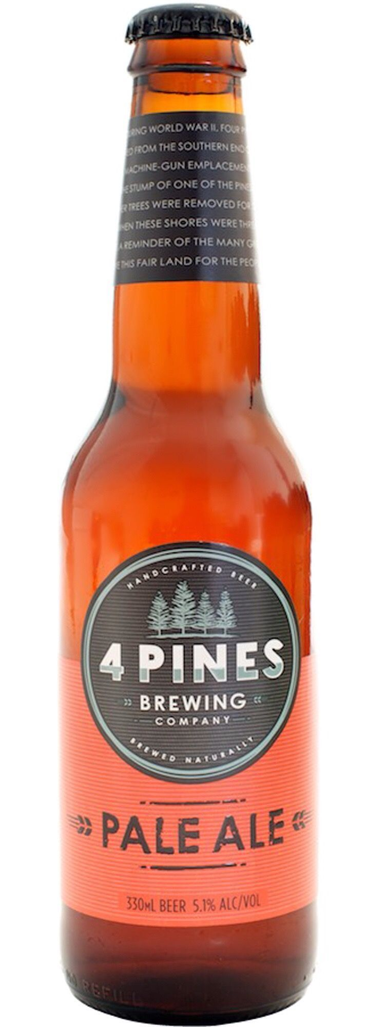Four Pines Pale Ale Is Rated By Local Beer Drinkers As One Of The Cities Great Boutique Beers It Is Brewed In Manly One Beer Beer Brands Boutique Beer