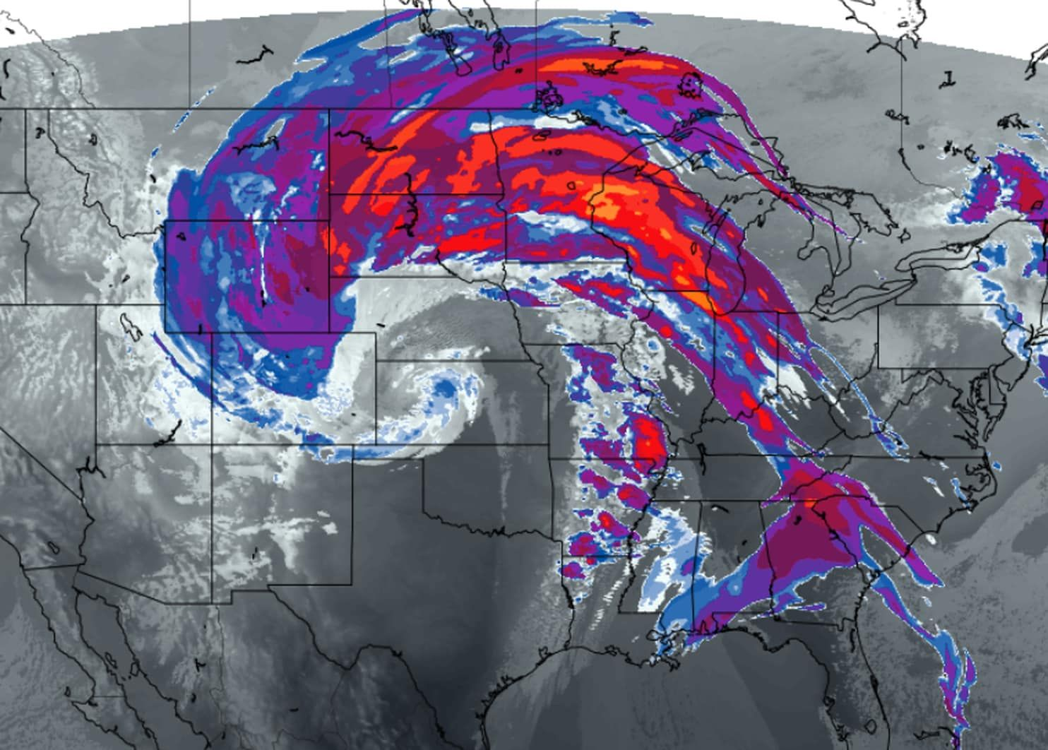 Hurricaneforce gusts hit both Dallas (78 mph) and Denver