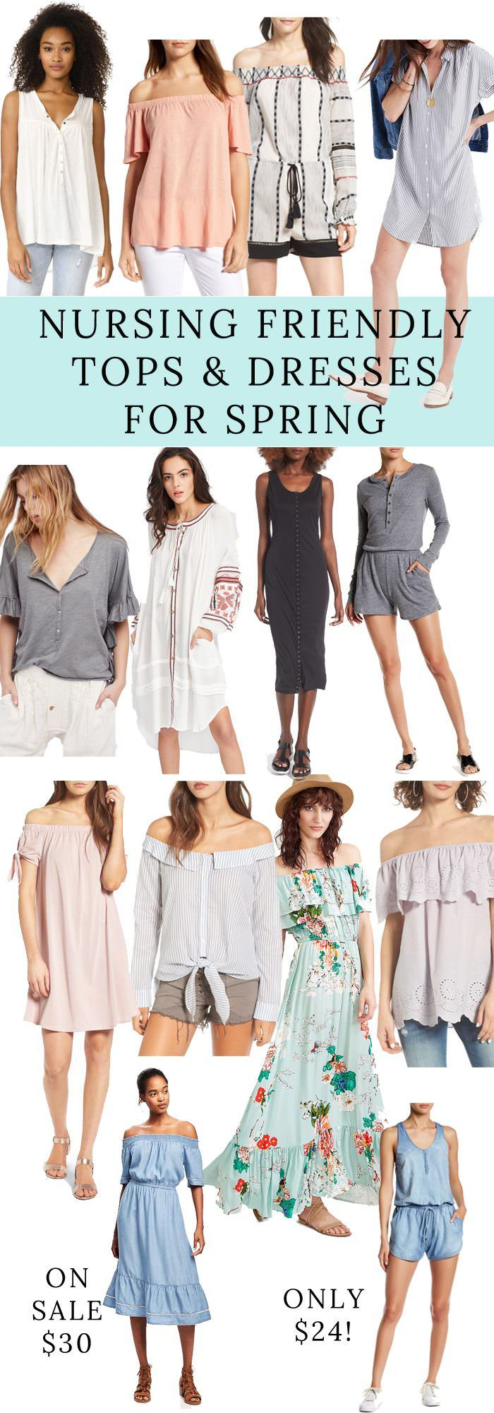 Are you currently nursing and trying to stay stylish at the same time? Check out this Roundup of the Best Tops & Dresses for Breastfeeding Mamas!
