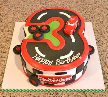 Cars Lightning Mcqueen Kids Birthday Cake Sugarland Raleigh Chapel Hill