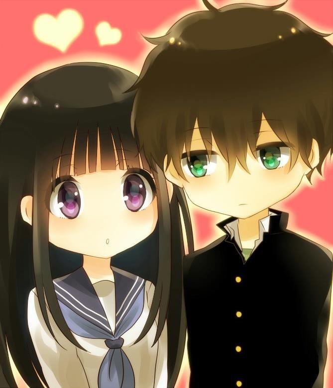 hyouka chitanda and oreki kiss wwwpixsharkcom images