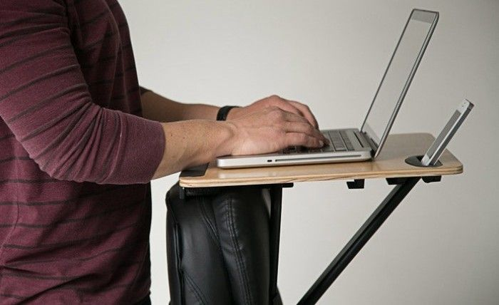 Easy Attachment Turns Any Office Chair Into A Standing Desk