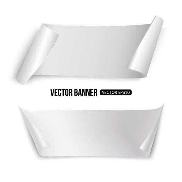 White paper banners Paper banners, White paper and Poster - white paper template