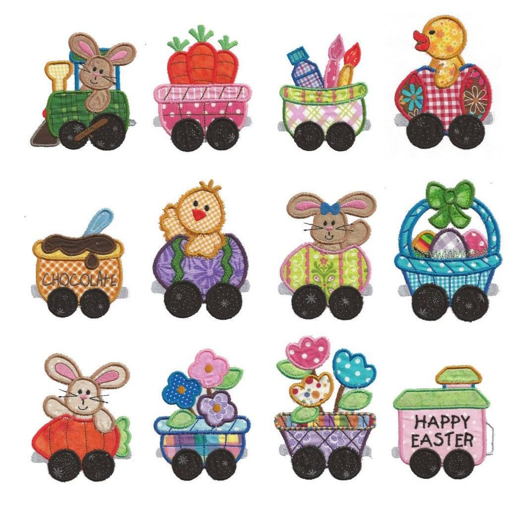 Cottontail Express Applique 4x4 hoop Machine embroidery