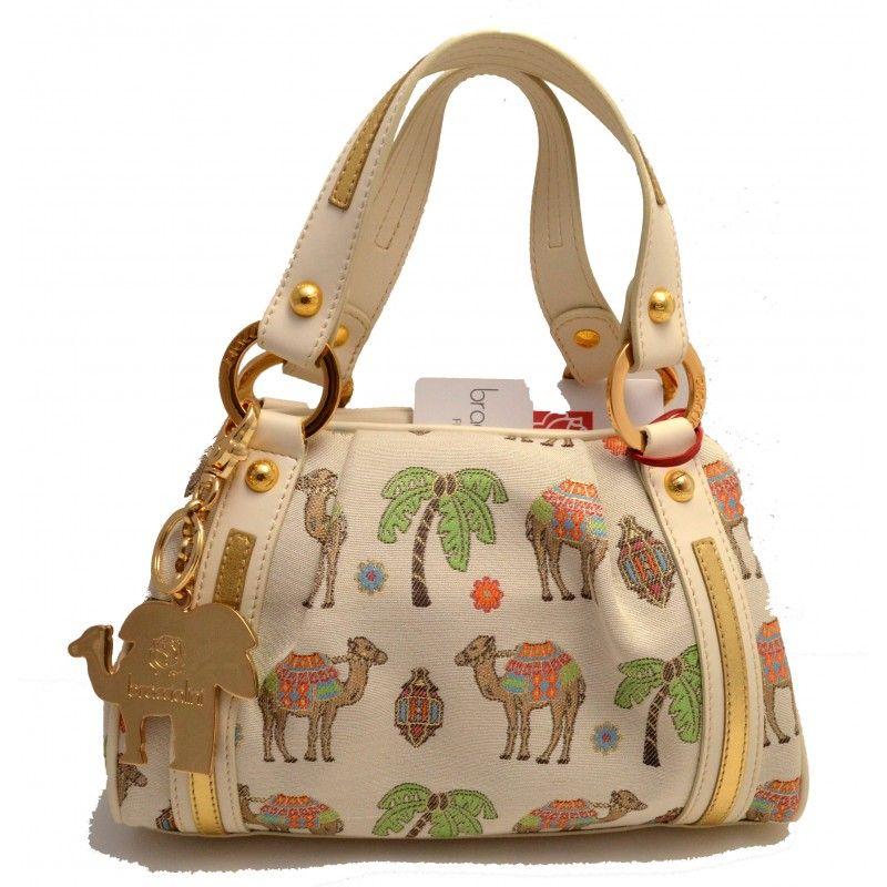 Bolsa de hombro donna bag Braccialini piel mujer bolso de mano de mano camel in Ropa, calzado y complementos, Bolsos de mujer   eBay