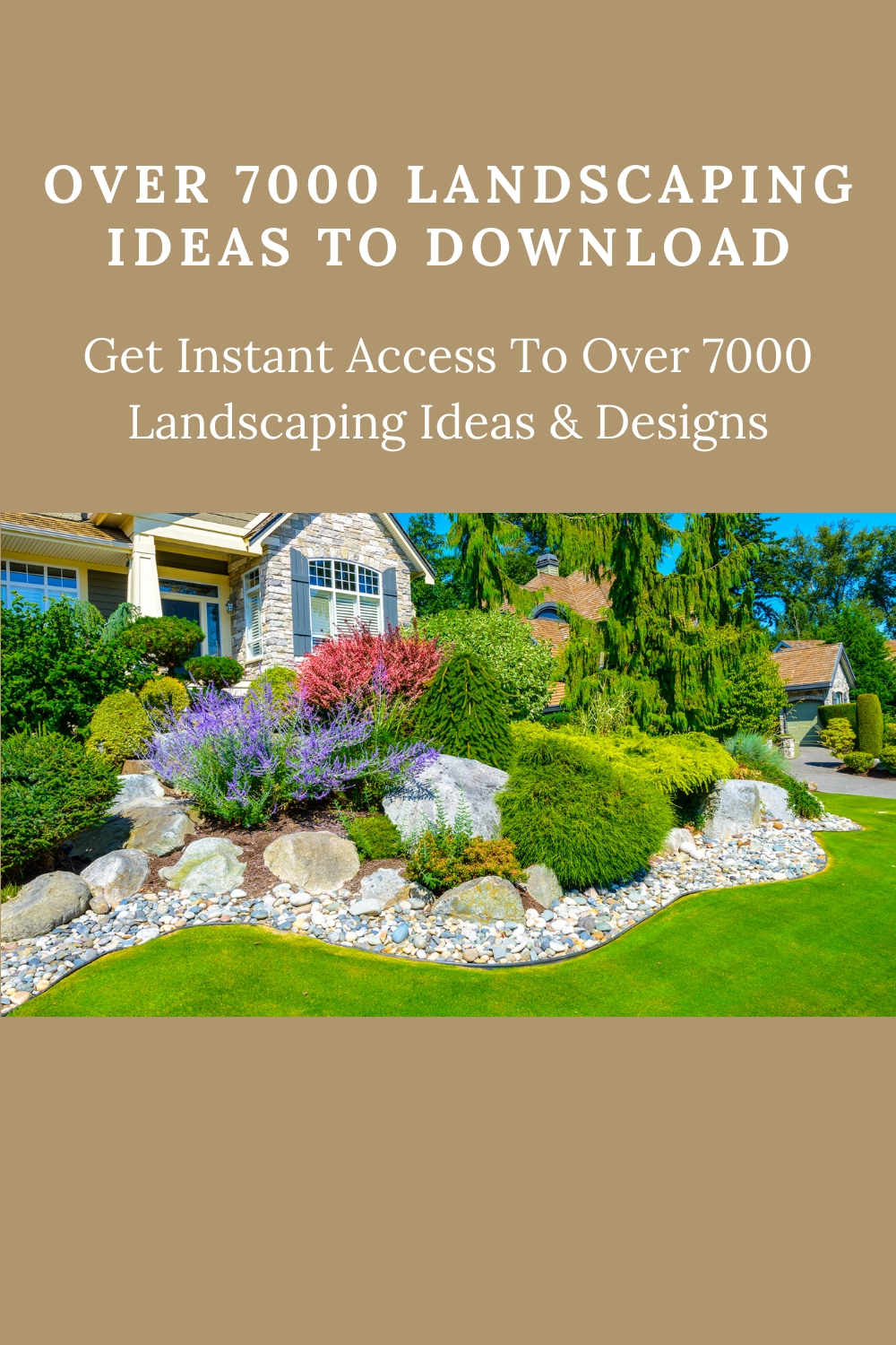 How To Put Landscaping Fabric Over Grass Landscaping Ideas Landscaping With Boulders Landscaping Around House Backyard Firepit Landscaping