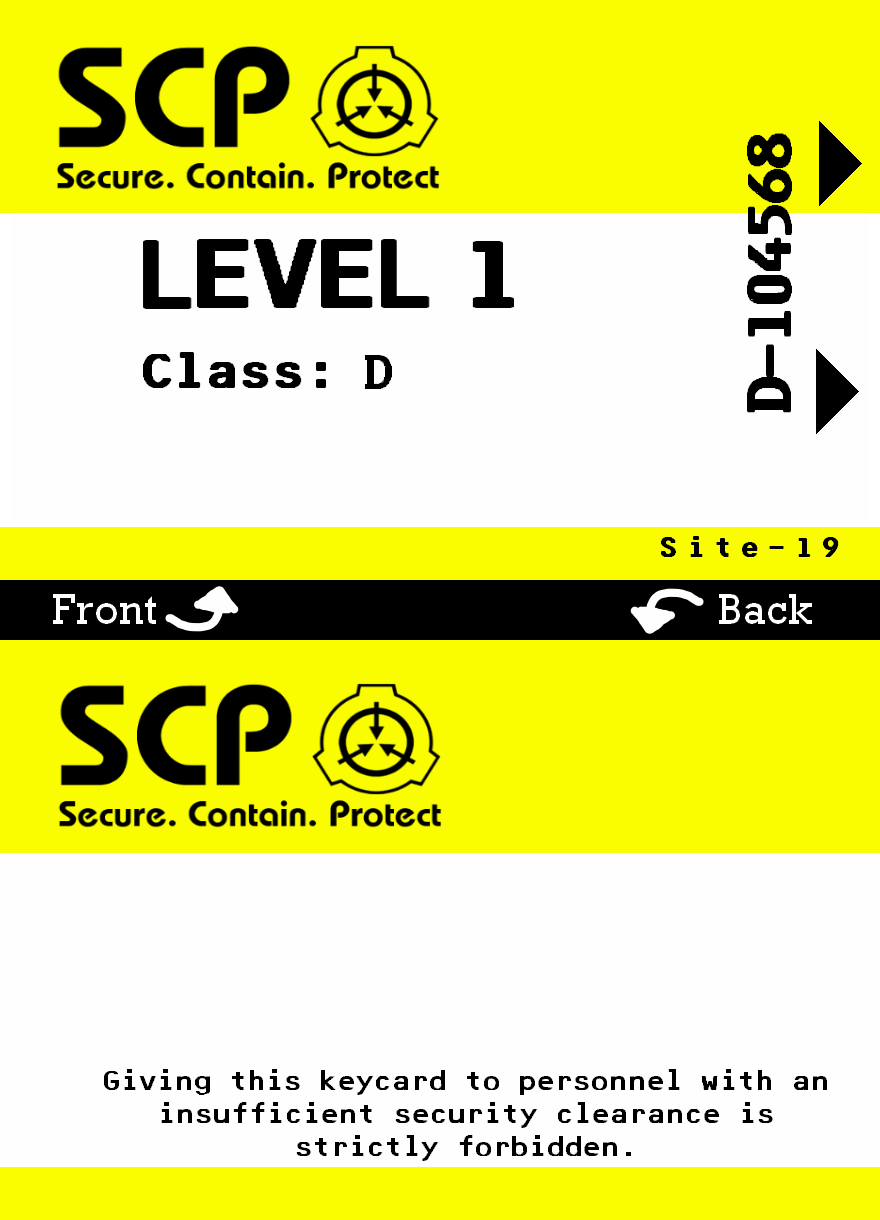 Scp Foundation Id Card Scp Foundation Cards
