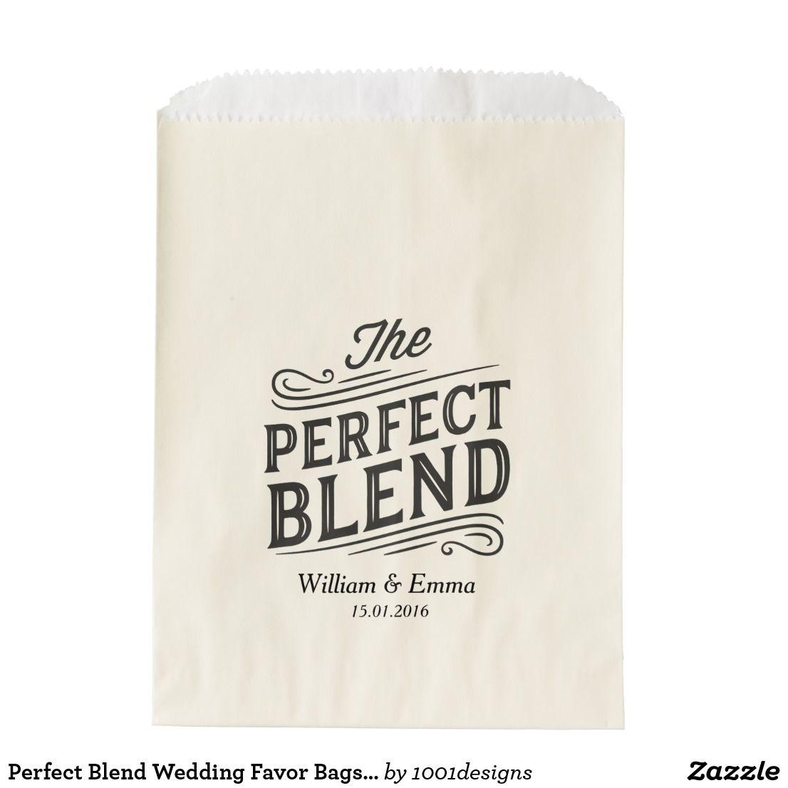 Perfect Blend Wedding Favor Bags Coffee Tea | Wedding favor bags ...
