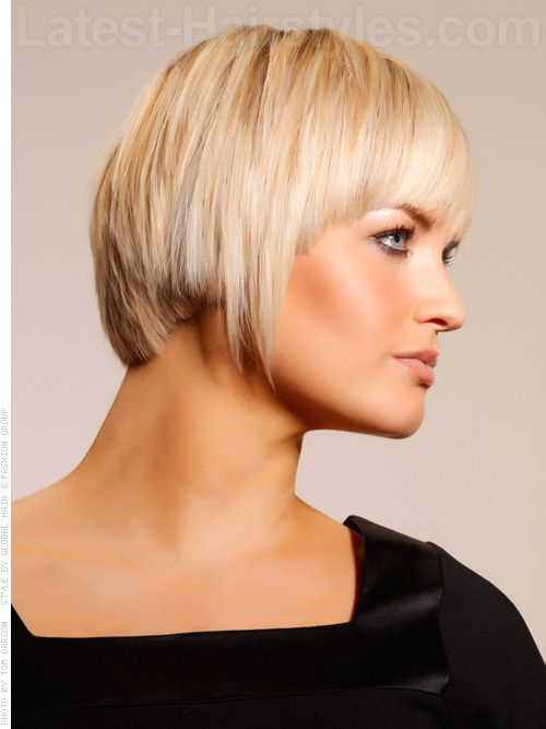 bob haircuts blonde side