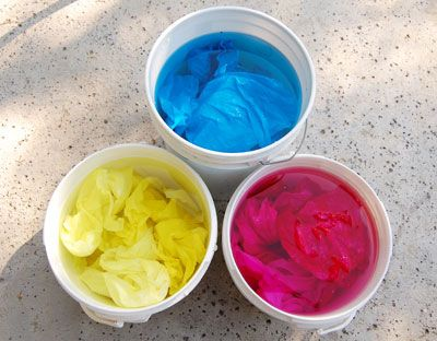 Primary Tints: A Beginning Fabric Dyeing Tutorial #dyeingtutorials