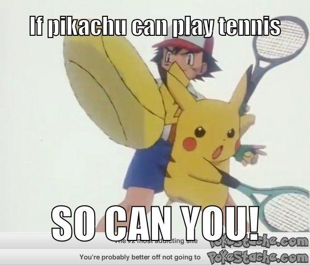 Motivational poster for tennis season