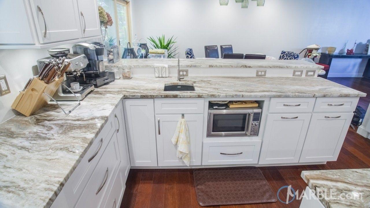 Countertops are fantasy brown granite the backsplash is marble - Fantasy Brown Kitchen Quartzite Modern Countertop
