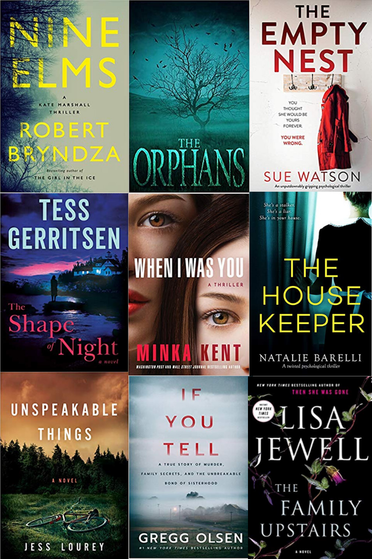 9 New Psychological Thrillers For 2020 in 2020 Thriller