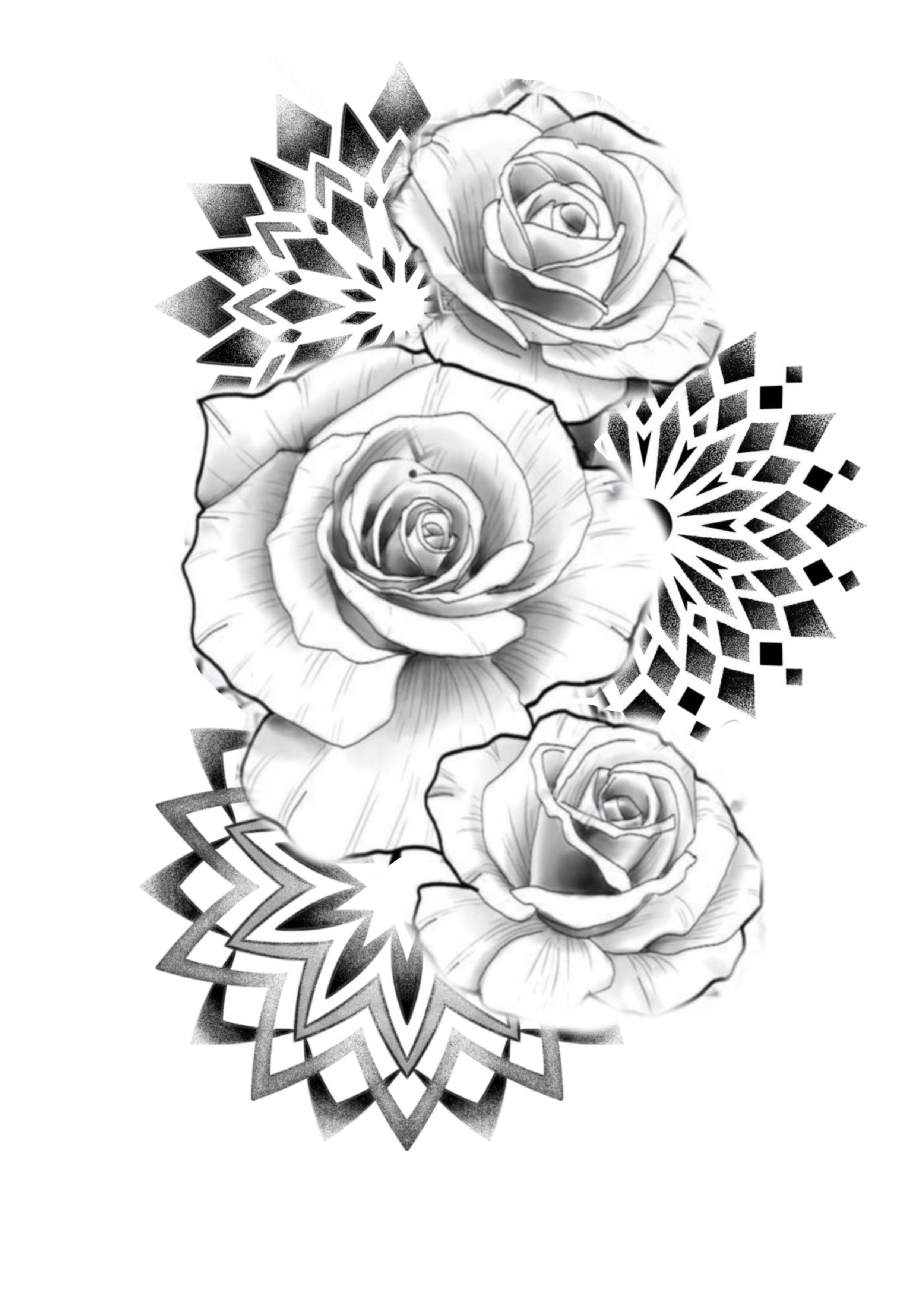 Roses Mandalas