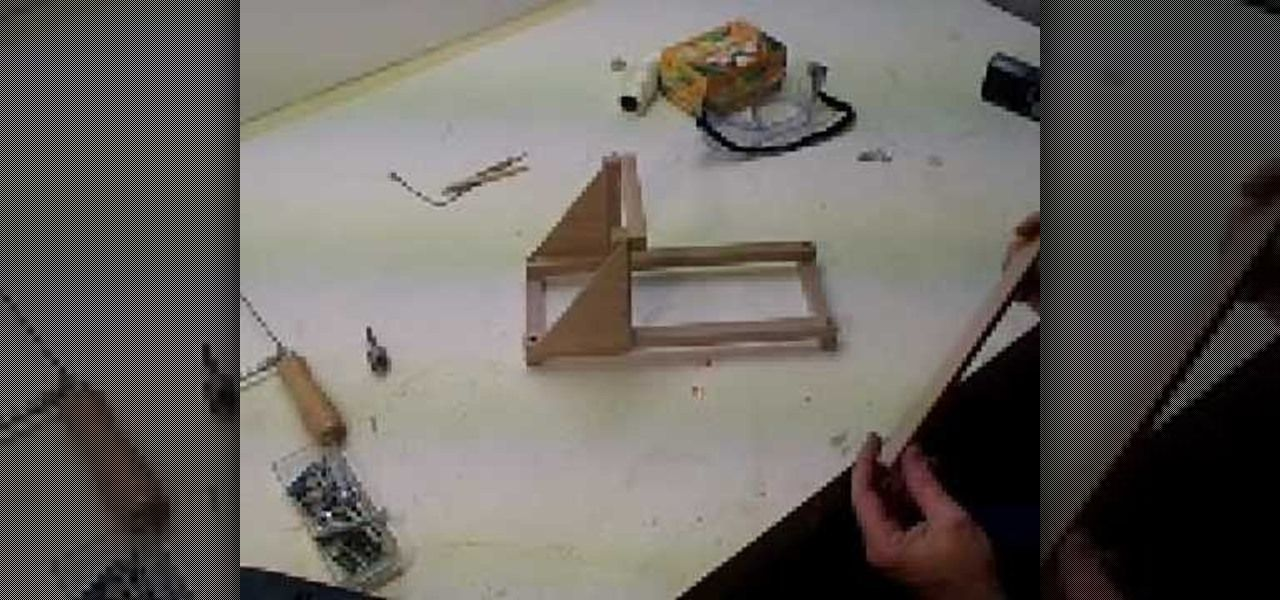How To Make A Tabletop Catapult Aka A Mangonel Tinker Art