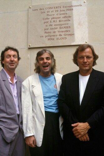 With Nick Mason and Rick Wright, 1987
