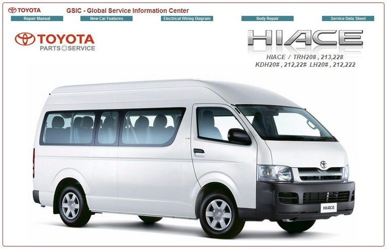Toyota Hiace Workshop Manual Pdf