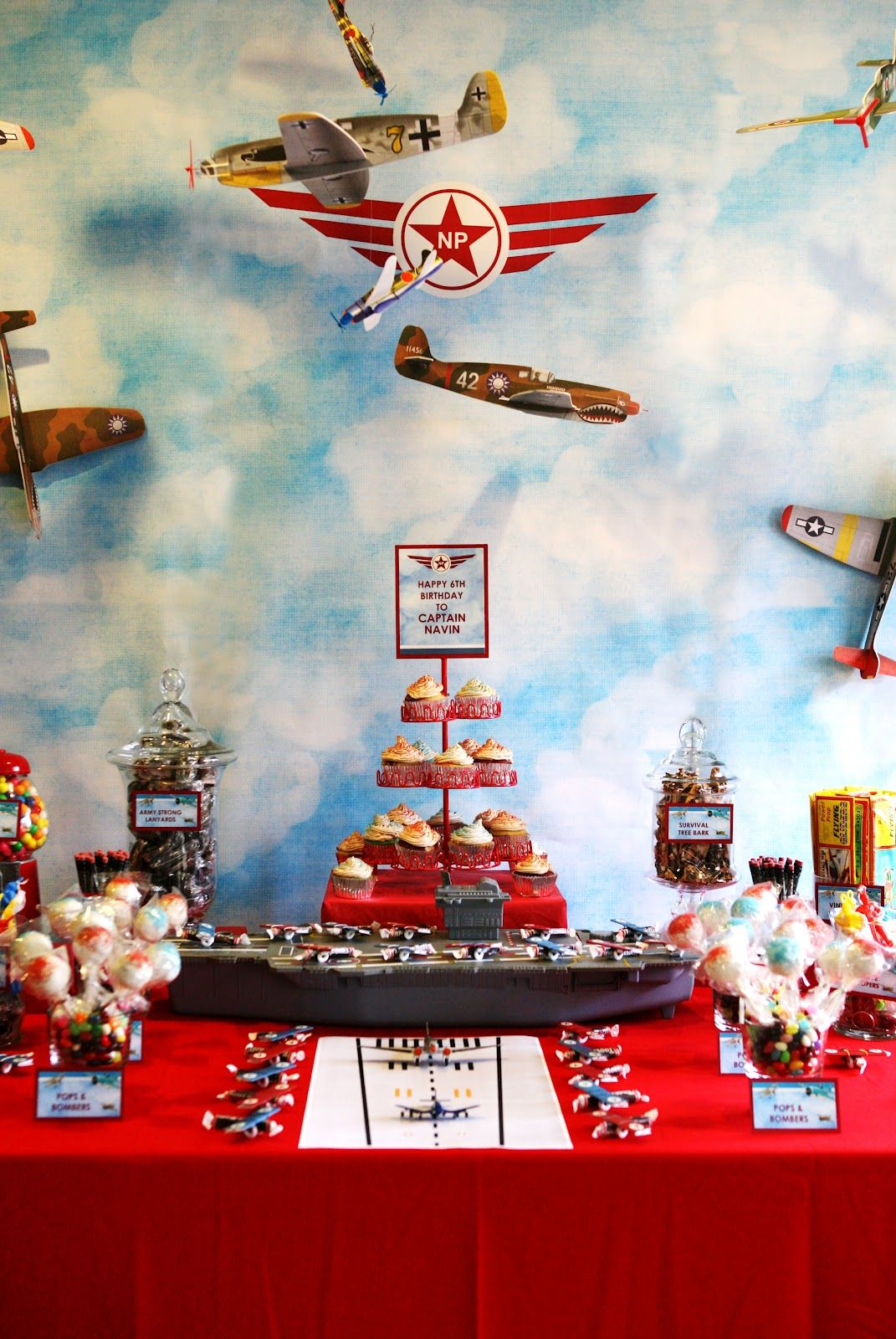 Vintage Planes themed birthday party Our Design Style