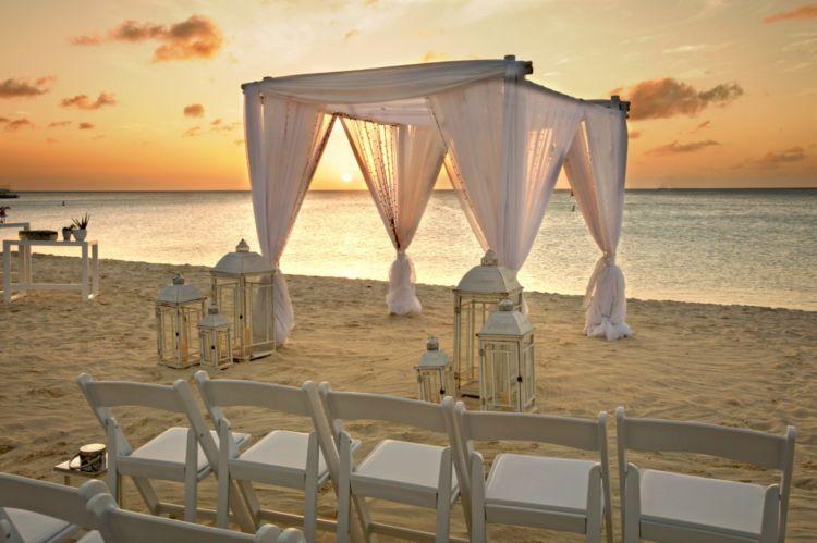 Beach Wedding At Hilton Aruba Caribbean Resort Sunset Beach