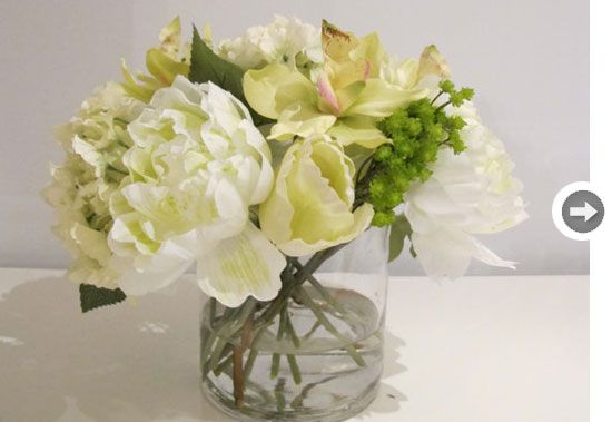 Fine silk floral arrangement