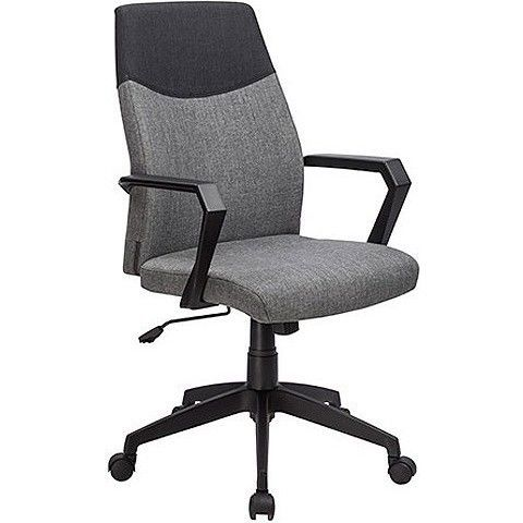 Jersey High Back Fabric Office Chair In Grey Black Chair Office